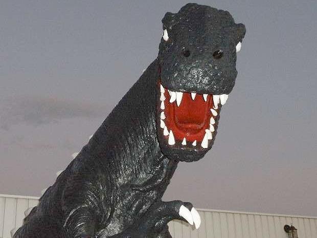 巨大恐竜付き!!HA3型ホンダ・アクティ