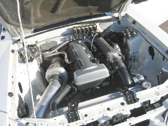 2JZ搭載1993マスタング白_3