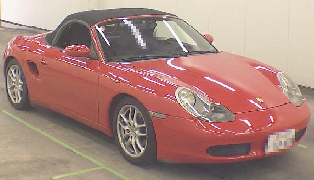 2012年5月5速マニュアル・ポルシェ(986型)ボクスターのオークション落札相場
