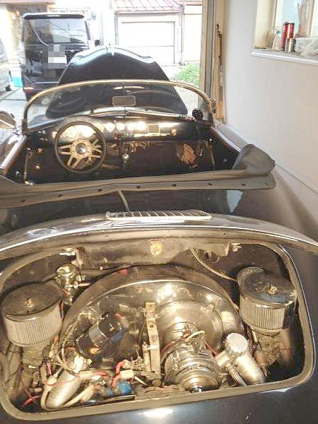 部品取り車・修理ベース・ポルシェ356・スピードスターレプリカ&カウンタックQVXのサウンド動画
