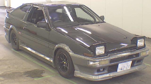 2012年7月名車!6代目スプリンタートレノ(AE86型)のオークション落札相場
