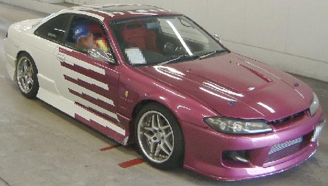 2012年8月S15シルビアフェイス!前期S14型シルビアのオークション落札相場