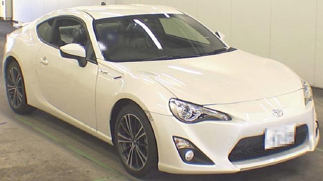 2012年11月新型トヨタ86GTリミテッド(ZN6型)のオークション落札相場
