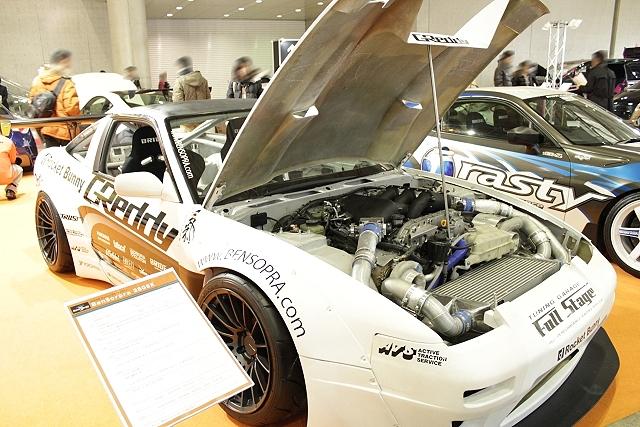 忙しい人の為の東京オートサロン2013「R35GTーR用VR38DETTエンジン搭載!日産180SX」