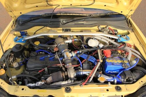 部品取り車・当時のEV仕様!電気自動車EV-MAX&ターボ化!TD04タービン装着!K11型マーチ