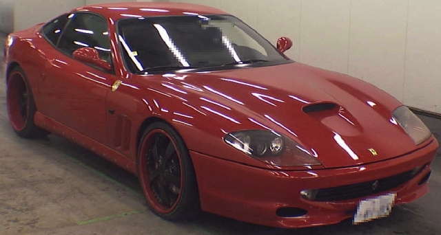 2012年11月FRモデル!フェラーリ550マラネロのオークション落札相場