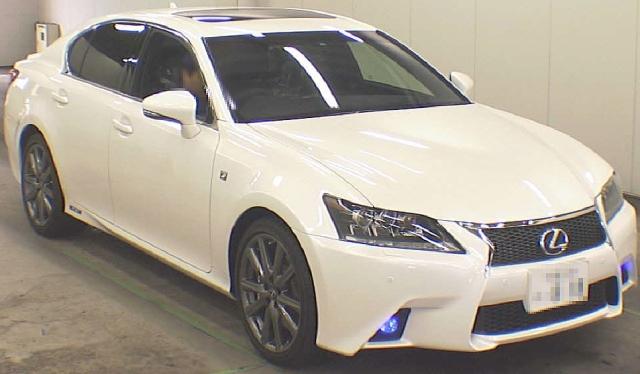 2012年11月4代目レクサスGS450H・Fスポーツ(GWL10型)のオークション落札相場