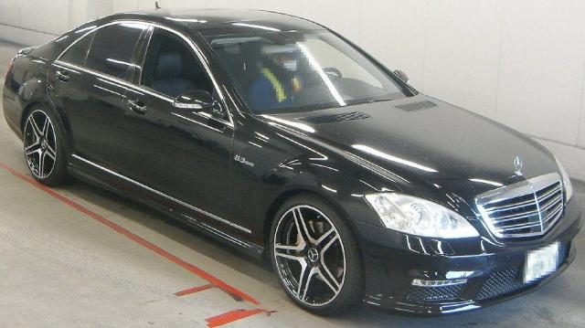 2012年12月W221型メルセデスベンツ・Sクラス(S500)のオークション落札相場