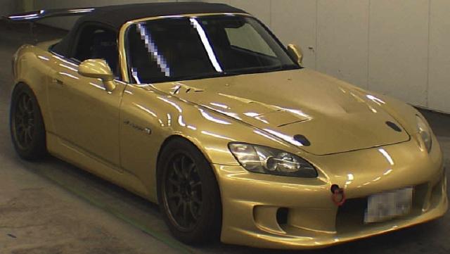 2012年12月ゴールドボディ!AP1型ホンダS2000のオークション落札相場