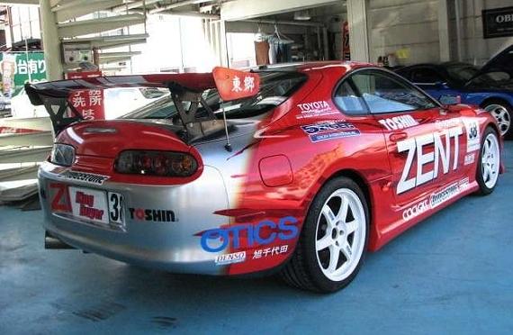 スーパーGTレプリカ!ZENTセルモスープラ(JZA80型)&当時2005年ゼントセルモスープラの動画