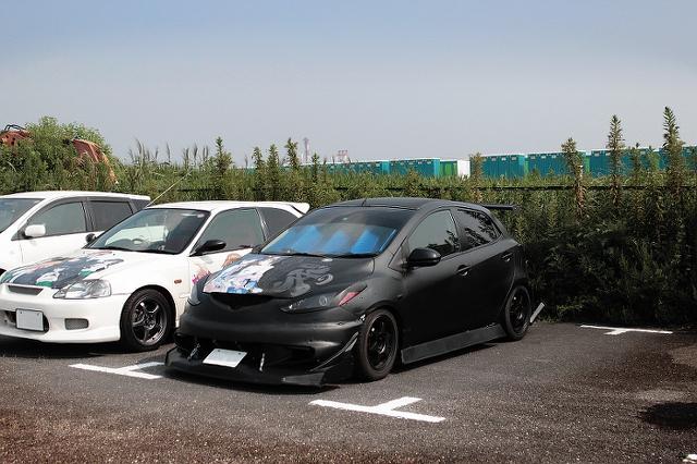 コミケ痛車デミオ20130813_1