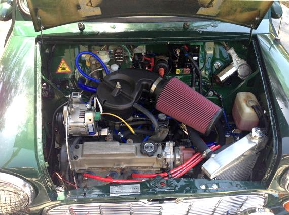 スズキG10エンジン換装オースチンミニ20130811_4