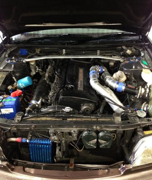 ブレンボRB26エンジン換装HC35ローレル20130805_ (3)