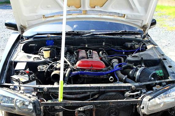 部分取りR34スカイライン顔SR20エンジン換装HCR32型スカイライン20130806_2