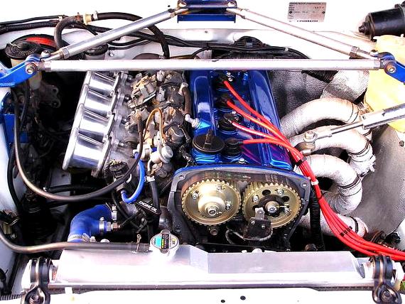 KMSエンジン換装4連スロットルAE86トレノ20130813_2