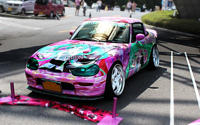 2013年6月東京タワー!痛車展示イベントの車両画像その2(三姉妹カプチーノ)