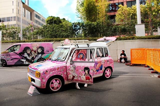 2013年6月東京タワー!痛車展示イベントの車両画像その3最後(アルトラパン、パルサーVZ-R、バイク)