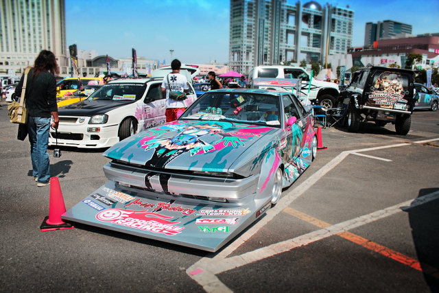 痛車ミク10ソアラ街道レーサー20130922_ (4)