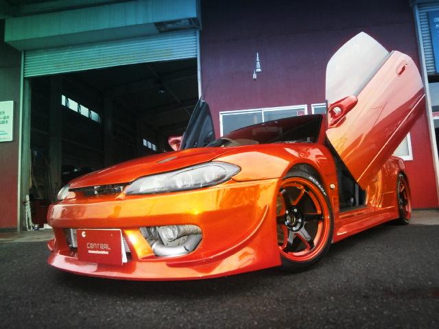 マジョーラオレンジ!ワイドボディ化S15シルビア&CA18DETエンジン搭載ダットラの動画