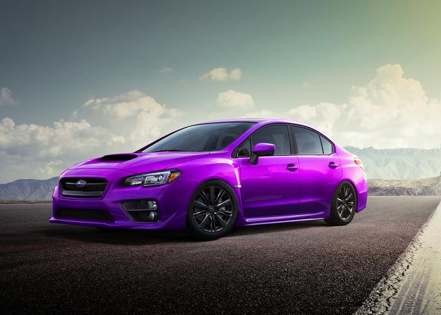 新型WRXローダウン紫