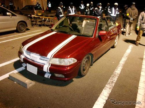 (海外)ボディ前後R34スカイラインGTR仕様!!S14系シルビア(200SX)&2014年!初日の出暴走取締りのニュース