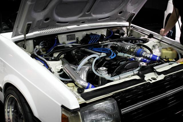 幕張メッセ!東京オートサロン2014(旧車!三菱A175A型ランサーターボ)