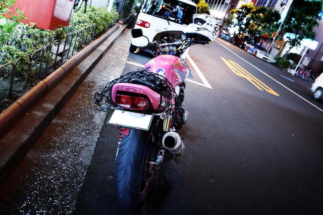 ラブライブ痛単車CB400秋葉原20140131_5