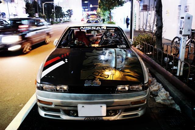2014年2月16日撮影!秋葉原痛車ストリート(東方プロジェクト・S13シルビア)