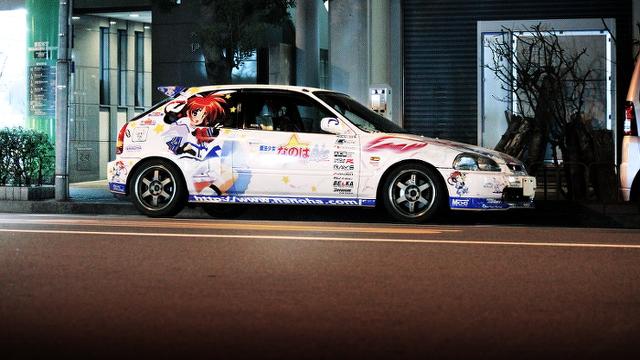2014年2月2日撮影!秋葉原痛車ストリート(なのは!おぱんちゅ号EK9型シビック・タイプR)