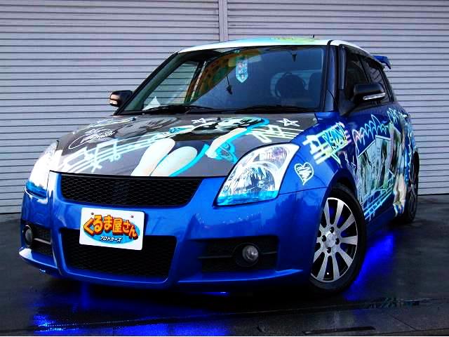 けいおん!秋山澪仕様!痛車ZC11S型スイフトXG改ガルウイング&掲載車両の動画