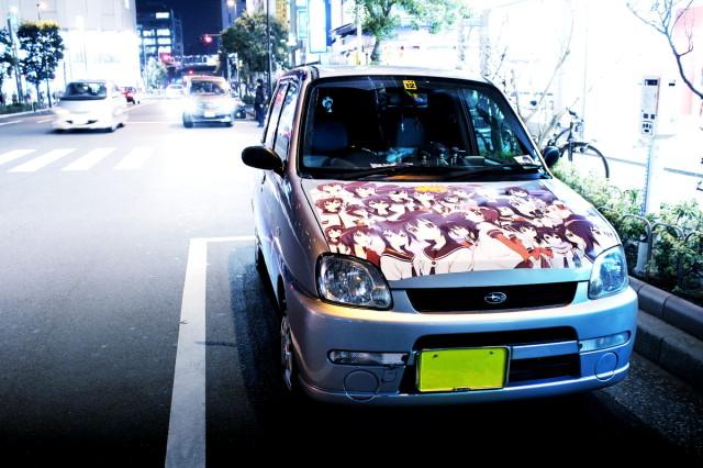 2014年3月7日撮影!秋葉原痛車ストリート(千本桜ホンダ・ライフ、ゆるゆりスバル・プレオ)