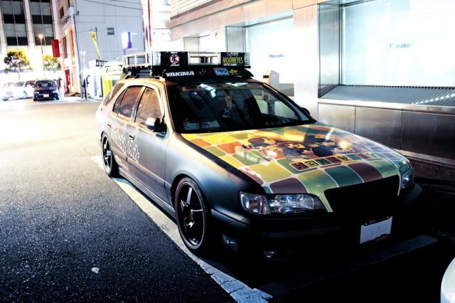 2014年3月7日撮影!秋葉原痛車ストリート(アイマス痛車A32型セフィーロワゴン・チームUEXUS)