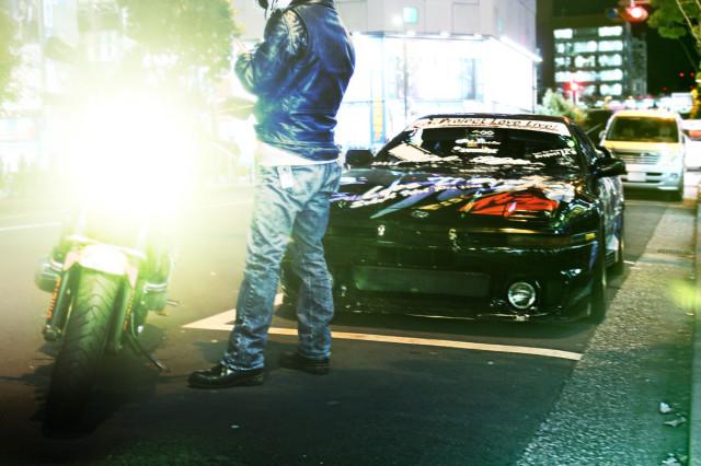2014年3月3日撮影!秋葉原痛車ストリート(TEAM発禁島70スープラ・ていおーさんCB400SF)