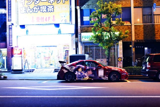 2014年2月23日撮影!秋葉原痛車ストリート(minori仕様アルファロメオGTV)