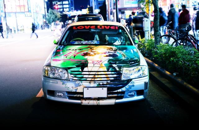 2014年3月7日撮影!秋葉原痛車ストリート(ラブライブ!南ことり仕様Y34グロリア)