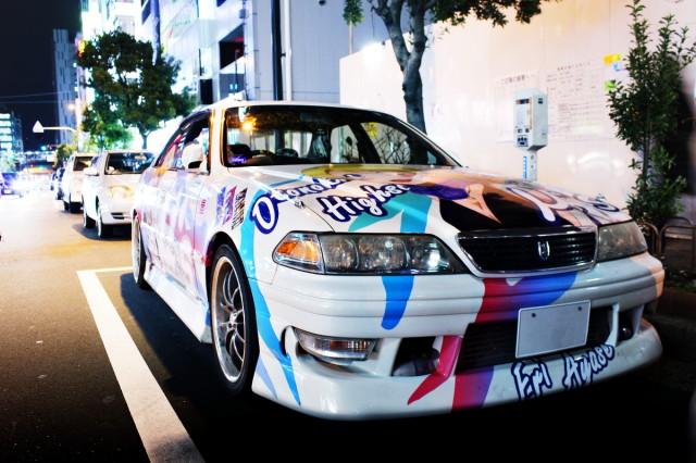 2014年3月14日撮影!秋葉原痛車ストリート(ラブライブ!絢瀬絵里JZX100マークⅡ)