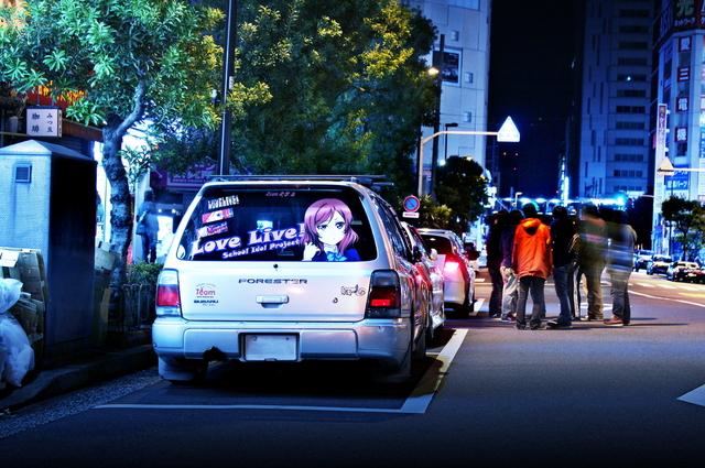 2014年4月6日ラブライブ!2期放送開始日!秋葉原痛車ストリート(ラブライブ!西木野真姫仕様・スバルフォレスター)