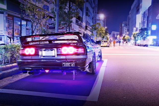 2014年4月6日ラブライブ!2期放送!秋葉原痛車ストリート(JZX100マーク2・GA70スープラGTツインtb)