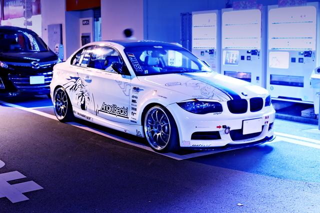 2014年4月19日撮影!秋葉原痛車ストリート(エンジェルビーツ仕様E82型BMW135i)