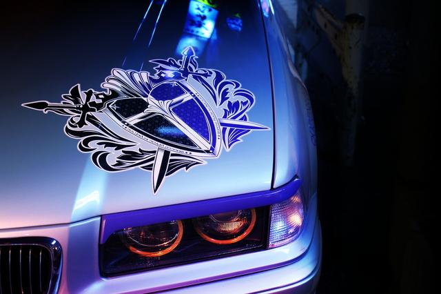 2014年3月21日撮影!秋葉原痛車ストリート(クイーンズブレイド・E36型BMW318ti)