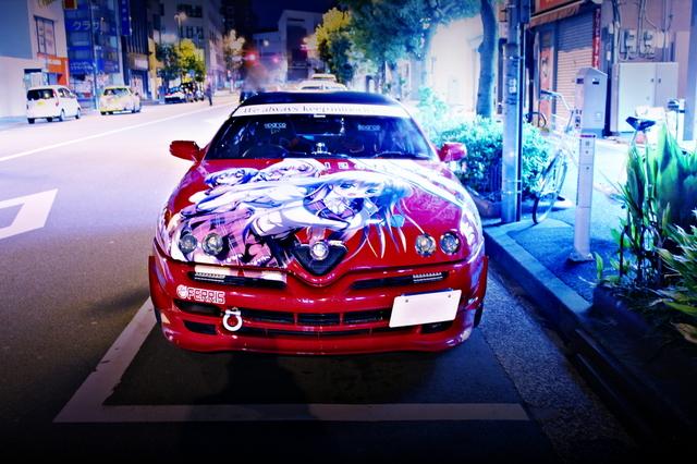 2014年4月6日ラブライブ!2期放送!秋葉原痛車ストリート(アルファロメオGTV・100ハイエース・インテグラ・S13シルビア・GD1型フィット)