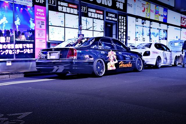 2014年5月5日ゴールデンウィーク撮影!秋葉原痛車ストリート(ラブライブ!高坂穂乃果仕様・170型クラウンマジェスタ)