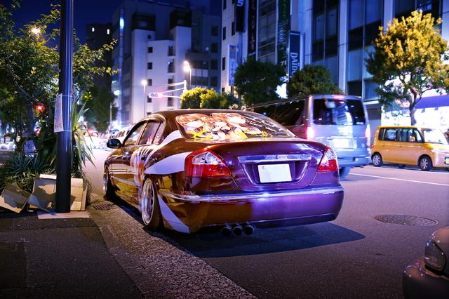 2014年5月5日ゴールデンウィーク撮影!秋葉原痛車ストリート(ニセコイ橘万里花・F50型シーマ)