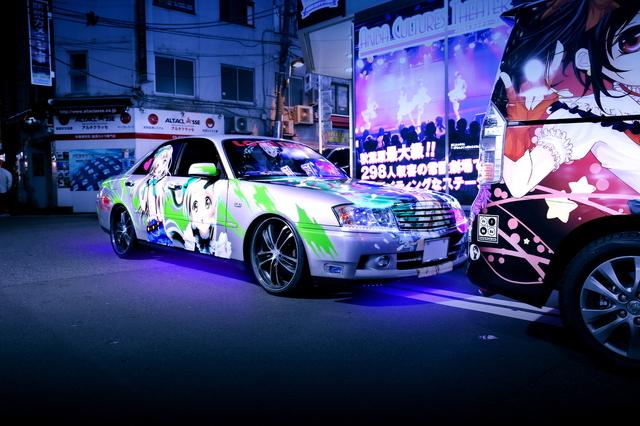 2014年5月2日ゴールデンウィーク撮影!秋葉原痛車ストリート(ラブライブ!Y34グロリア)