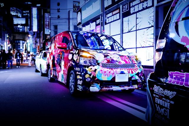 2014年5月2日ゴールデンウィーク撮影!秋葉原痛車ストリート(ラブライブ!VOXY・ラブライブCB400SF)