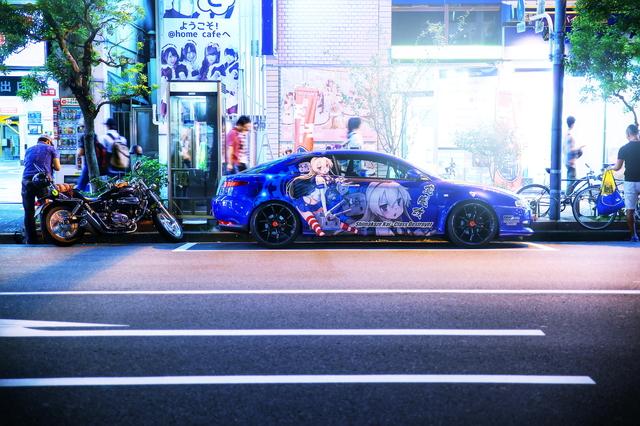 2014年6月14日撮影!秋葉原痛車ストリート(アルファロメオGT・ホンダCBR1000RR・GA70スープラGTツインターボ)