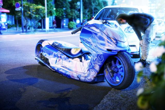 2014年5月23日撮影!秋葉原痛車ストリート(電波女と青春・男藤和エリオYAMAHAマジェスティ)