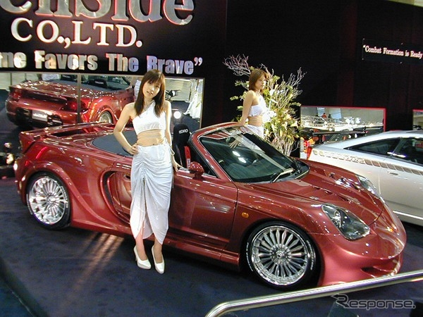 オートサロン2001展示!GT2835タービンVプロ制御!ヴェイルサイドMR-Sフォーチューン01