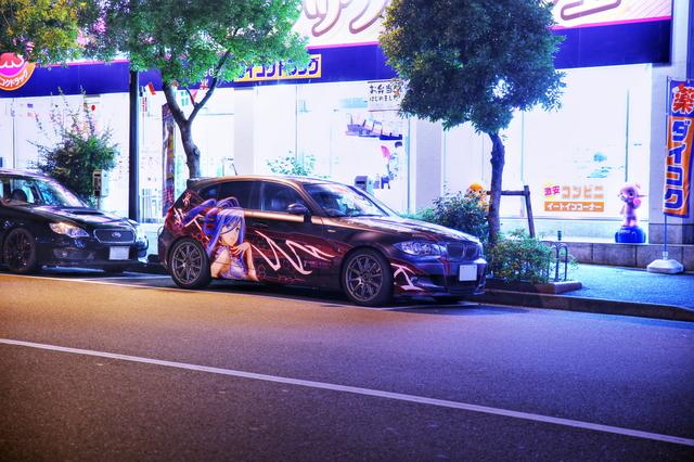 2014年6月27日撮影!秋葉原痛車ストリート(黒ミクファード・BMW130i・ヴォクシー・ダイハツMAX)