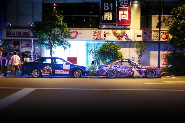 2014年7月12日撮影!秋葉原痛車ストリート(ラブライブ!BiBi・CF4型ホンダ・トルネオ/矢澤にこ仕様S15シルビア)